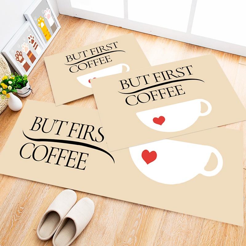 Tapete Cozinha Coffee Heart, 3 pçs - 40x120cm