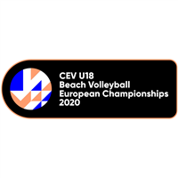 2020 U18 Beach Volleyball European Championship Logo