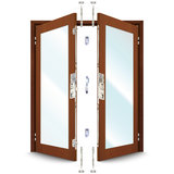 ERA 5345 Series French Door Kit For a pair of rebated timber doors