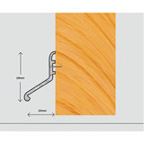 Exitex Deflector 20 - External Deflector Strip Suitable For All Door Types And Profiles