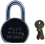 Tri Circle Chrome Standard Shackle Padlock