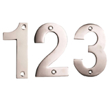 75mm Face Fix Numerals Satin Stainless Steel