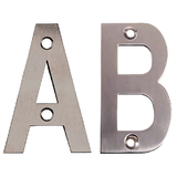 75mm Face Fix Letters Satin Stainless Steel
