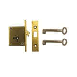 D20 2 LEVER MORTICE SLIDING CUPBOARD LOCK
