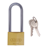 Abus 65 Series Long Shackle 80mm Brass Padlock