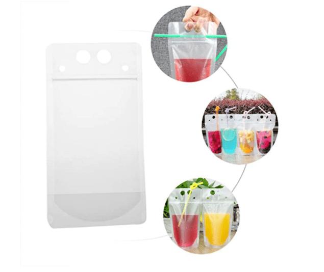 اكياس العصير الشفافه