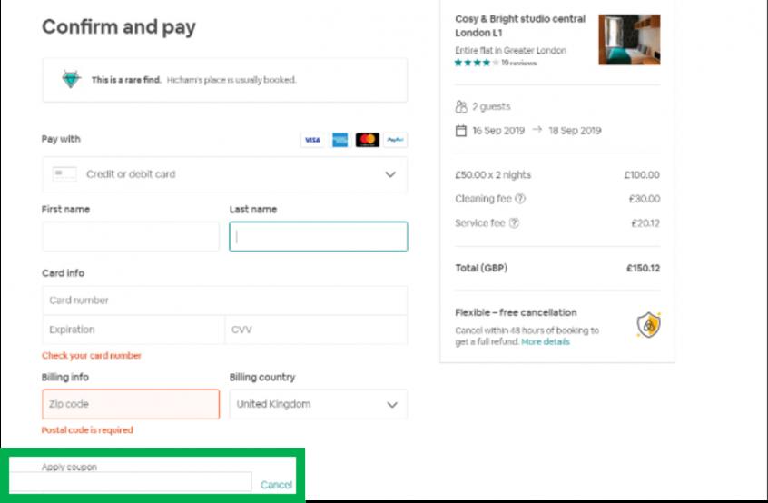 كيف أستخدم كود خصم اير بي ان بي أو كوبون اير بي ان بي عبر الموفر لحجز إقامتي على موقع اير بي ان بي Airbnb ؟