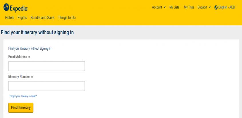 كيف أقوم بإلغاء أو تعديل حجز رحلة الطيران على موقع اكس بيديا Expedia