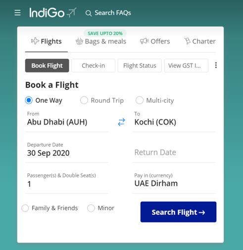 كيف أستخدم كود خصم انديجو أو كوبون خصم انديجو ضمن كوبونات وعروض خصم انديجو عبر الموفر من أجل توفير المال عند حجز تذاكر طيران على موقع انديجو IndiGo ؟