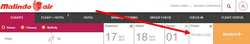 كيف أستخدم كود خصم طيران ماليندو أو كوبون طيران ماليندو ضمن كوبونات وعروض طيران ماليندو عبر الموفر لحجز رحلات طيران أو فنادق على موقع طيران ماليندو Malindo Air ؟