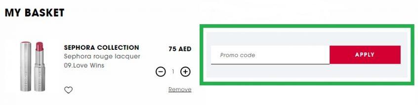 How to buy Sephora lipstick using Sephora Promo Code for Sephora UAE & KSA Online Store?