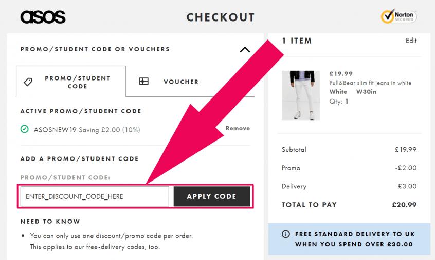 Asos codes - How to use Asos discount codes & Asos promo codes