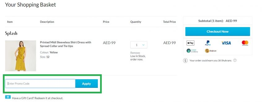 How to use your Splash Fashions Promo Codes & Splash Fashion Offers to shop at Splash UAE & Splash KSA