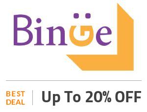 Binge Coupon Code & Offers