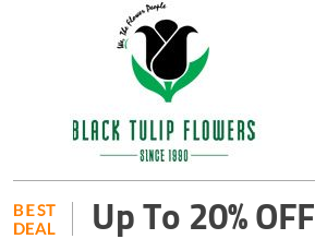 Black Tulip Flowers Coupon Code & Offers