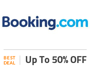 Booking.com Deal: Booking Offer: Up to 50% OFF On Hotel Bookings Off