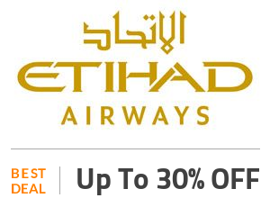 Etihad Airways Deal: Get 30% Off on Economy For an Extra Legroom Space Off