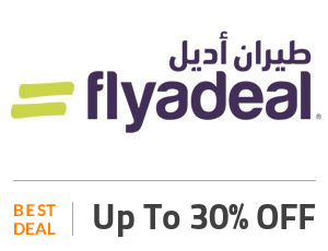 Flyadeal Deal: Up to 30% OFF on Hotels Bookings - Flyadeal Offer Off