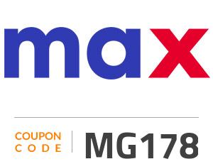 Max Fashion Coupon Code: MG178