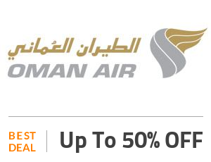 Oman Air Deal: Get Up to 50% OFF On All Flights From Abu Dhabi Off
