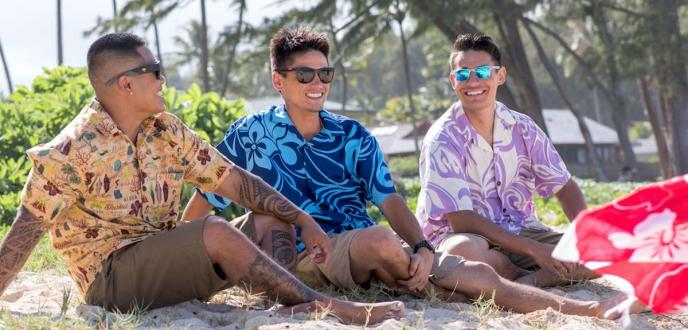 0fab0d74 Original Hawaiian Aloha apparel first appeared in the 1920's, using  colorful, unique and exotic fabrics offered by the merchants of the far  east.