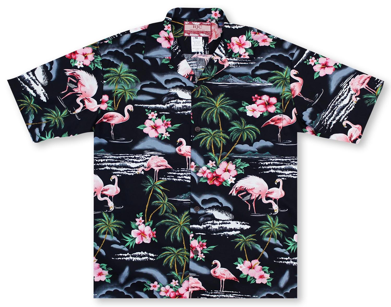 bfd1bd83 Hawaiian Shirts From Aloha Shirt Shop   RJC Flamingos   RC-18