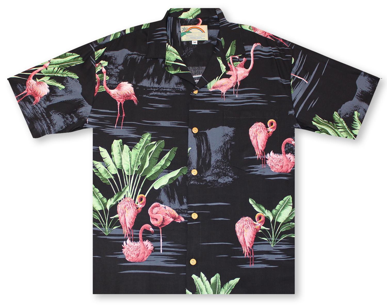 61e5aa57 Hawaiian Shirts From Aloha Shirt Shop | Paradise Found Flamingos | PF-00