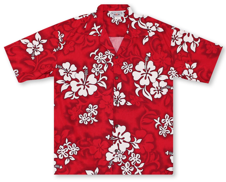 a70e36dc Hawaiian Shirts From Aloha Shirt Shop | Pacific Legend Red Hibiscus ...