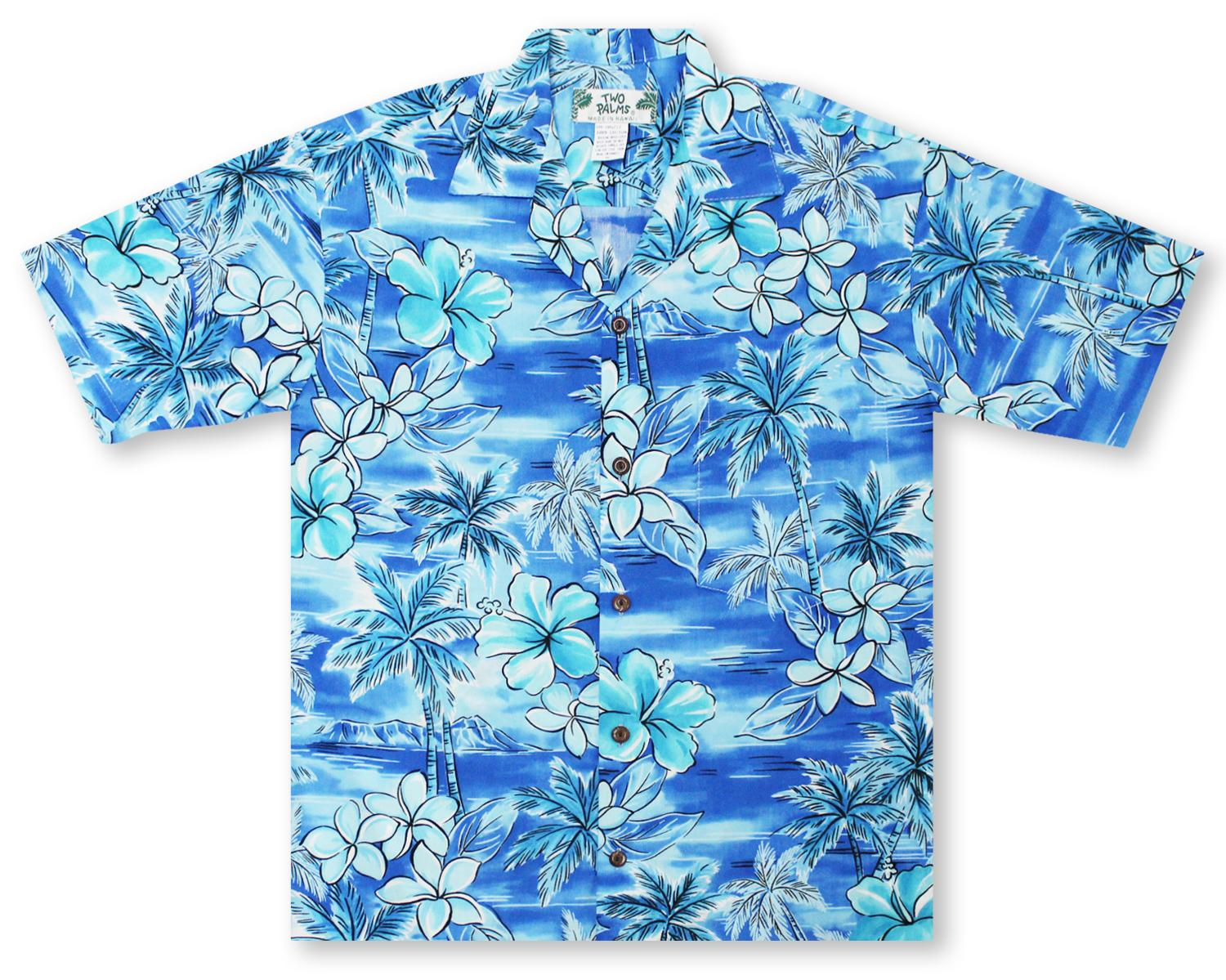 f4a0751091 Hawaiian Shirts From Aloha Shirt Shop | Two Palms Blue Hawaii | TP-14