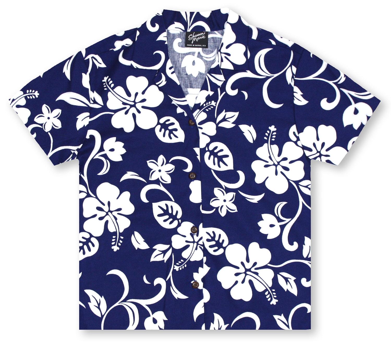 a2768bca Hawaiian Shirts From Aloha Shirt Shop | RJC Ladies Hibiscus Blue ...