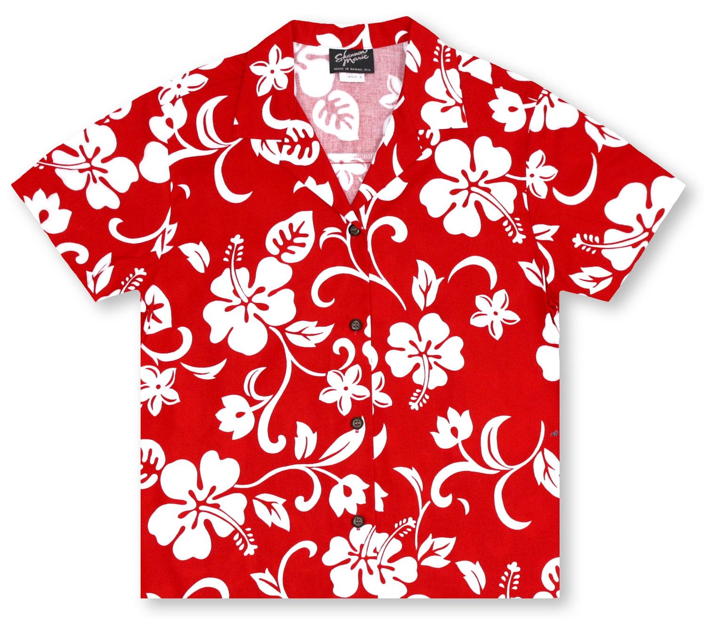 Hawaiian Shirts From Aloha Shirt Shop | RJC Ladies Hibiscus Red ...