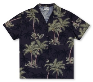 Go Barefoot Ladies Coconut Trees - Black* Hawaiian Shirt