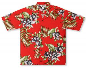 Aloha Republic Floral Fronds Hawaiian Shirt