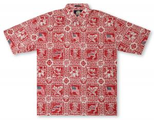 Reyn Spooner Summer Commemorative 2018 - Cardinal Hawaiian Shirt