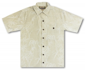 Beyond Paradise Bamboo In Paradise - Off White / Tan Hawaiian Shirt