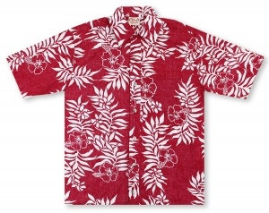 Go Barefoot Tahitian - Red Hawaiian Shirt