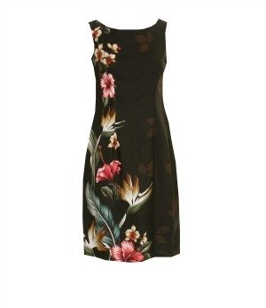 Hilo Hattie Hibiscus Paradise Short Tank Dress Hawaiian Shirt