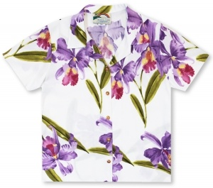 Paradise Found Ladies Double Orchid* Hawaiian Shirt
