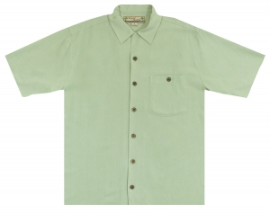 Beyond Paradise Evening Out - Sage Solid* Hawaiian Shirt