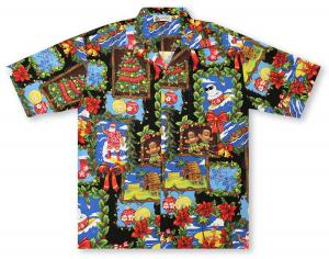 new aloha republic christmas card tapa hawaiian shirt - Christmas In Hawaiian