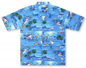 Aloha Republic Fish Frenzy Hawaiian Shirt