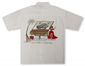 Bamboo Cay Havana Cabana - Off White Hawaiian Shirt