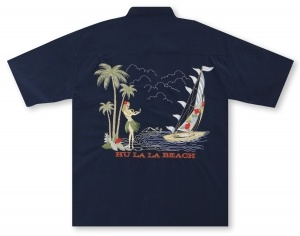 Bamboo Cay Hu La La Beach Hawaiian Shirt
