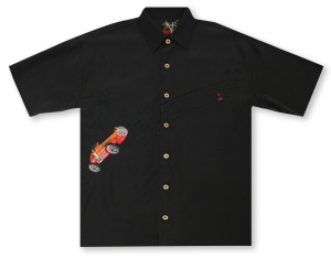 Bamboo Cay King of the Road - Black* Hawaiian Shirt