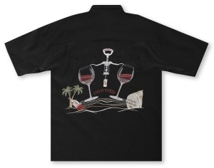Bamboo Cay Relax and Unwined - Black Hawaiian Shirt