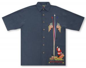 Bamboo Cay Santa's Salute - Pre-Order: Will bill and ship 10-10-18 Hawaiian Shirt
