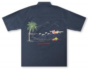 Bamboo Cay Santa at the Beach Hawaiian Shirt
