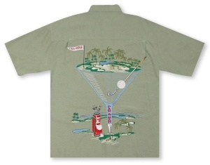 Bamboo Cay A Par and Off to the Bar - Reseda Green Hawaiian Shirt