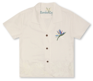 Bamboo Cay Ladies Bird Of Paradise Hawaiian Shirt