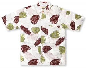 Beyond Paradise Tropical Leaves Hawaiian Shirt